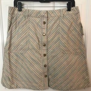 Anthropology Button Up Skirt
